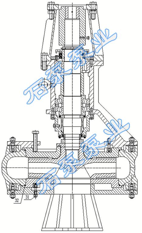 液压马达驱动潜渣泵结构图图片